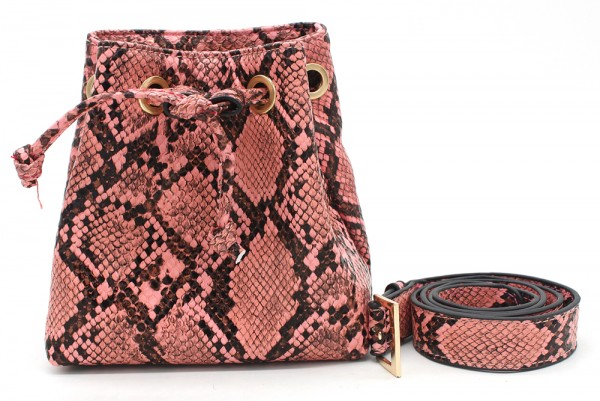 cf6acf4c430 T-D2.2 BAG202-002 Pouch Belt Bag Snake 15x15x7.5cm incl 90cm Belt Pink