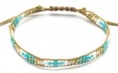 B-C19.2 B2039-017B Bracelet with Glassbeads Brown-Multi