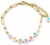 E-F4.4 B2126-021G S. Steel Bracelet JADORE Gold