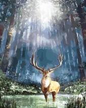 R-A2.2 X132 Diamond Painting Forest Deer  40x30cm