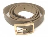 S-I7.4  BELT418-001B PU Croco Belt Khaki L