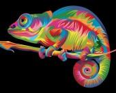 Y-D1.2 MS9262 Paint By Number Set Chameleon 50x40cm