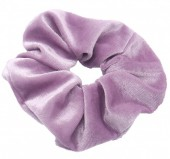 S-B3.2 H305-009A5 Velvet Scrunchie Purple