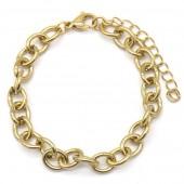 A-G9.1  B2126-009G S. Steel 7mm Chain Bracelet Gold