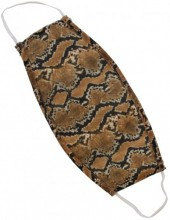 S-B6.2 Fashion Mask - 2 Layers - Cotton - Machine Washable - Individually Packed - Snake Brown