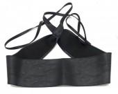 Q-G7.2 BELT001-001A PU Waist Belt Black