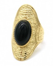 C-A10.2 R110220G S. Steel Ring Stone Adjustable Gold
