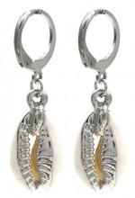 A-D7.2 E2121-041S S. Steel Earrings Shell 1x3cm Silver