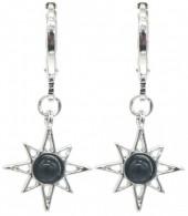 G-E2.2 E532-003S Earrings Sun Black-Silver