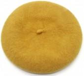 T-E6.1  HAT502-001G Trendy Woolen Baret Adjustable Size Yellow