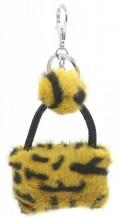 S-G5.4  KY2035-033D Keychan Fluffy Bag 9x7x3cm Yellow