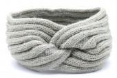 S-G6.2 H401-027D Soft Knitted Headband Grey