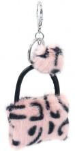 S-I5.2 KY2035-033F Keychan Fluffy Bag 9x7x3cm Pink