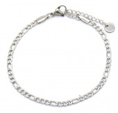 D-A5.3 B019-008S S. Steel Chain Bracelet Silver