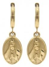 B-B19.4  E2121-018G S. Steel Earrings Maria 1x2.5cm Gold