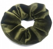 S-A7.1 H305-009A1 Velvet Scrunchie Green