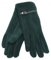 S-C2.4  GLOVE403-004B Soft Gloves with PU Strap and Crystal Green