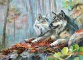 Y-A5.1 KTL941 Paint By Number Set Wolves 40x30cm