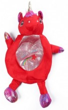Y-C2.4 BAG416-002A Plush Backpack Unicorn Red