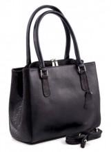 Q-A5.2. Luxury Leather Bag 35x26cm Black