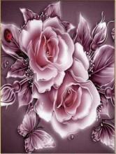 S-K3.3 Q016 Diamond Painting Set Roses 30x20cm