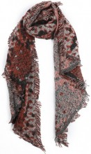 Z-B2.1  SCARF408-007A Snake Print with Glitters 60x190cm Orange