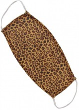 S-B1.4 Fashion Mask - 2 Layers - Cotton - Machine Washable - Individually Packed - Leopard
