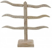 Y-D1.4 Wooden Earring Stand for 24 pairs 27x28cm White