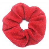 S-D5.5 H305-045N Glitter Scrunchie Red