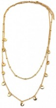C-E19.3 N426-011G Layered Necklace Coins Gold