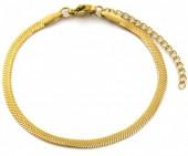 C-B9.2 B019-001G S. Steel Bracelet 3mm Gold