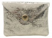 G-B16.2 WA520-002 Small Pouch for Pocket Change Silver
