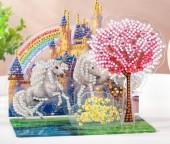 Q-P8.2  LT001 Diamond Painting Set  Unicorn Rainbow 3D Set