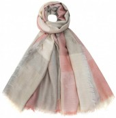 K-B5.2 S002-001 Soft Square Scarf Blocks Grey-Pink-Multi 140x140cm