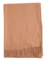 Z-C3.3 SCARF405-048D Soft Scarf 180x70cm Light Brown
