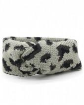 Q-M8.2  H114-022 Headband with Leopard Print Grey