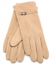 S-C3.4  GLOVE403-004D Soft Gloves with PU Strap and Crystal Beige