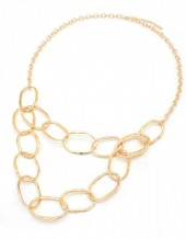 A-D10.1 N001-007 Metal Chain Necklace Gold