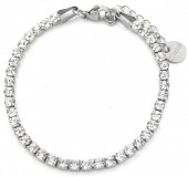 B-D16.2 B301-032S S. Steel Bracelet with Crystals Silver