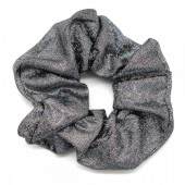 S-G2.3 H307-002 Scrunchie with Glitters Grey
