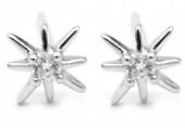 A-E15.1  SE104-131 Earrings 925S Silver 6mm with Zirconia