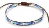 B-D2.5 B2039-017F Bracelet with Glassbeads Brown-Blue
