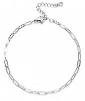 C-C19.5 B020-005S S. Steel Chain Bracelet Silver
