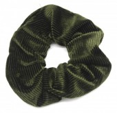 S-E7.4 H350-022I Rib Fabric Shiny Scrunchie Green
