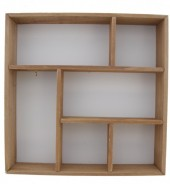 R-O7.2 Wooden Display Cabinet-Box 35x35x7cm White