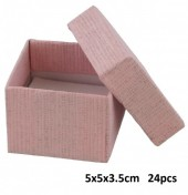Z-D3.3 Giftbox for Rings 5x5x3.5cm Pink 24pcs