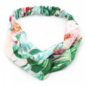 S-A6.2 H305-001 Headband Jungle Flowers Green-Pink