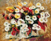 Z-D3.1 MS8596 Paint By Number Set Flowers 50x40cm