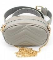 Y-E6.3  BAG212-002 Combination Bum-Shoulder Bag incl Belt 19x12x7cm Grey