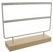 R-H2.1 Wood with Metal Earring Display  27x22x7cm White